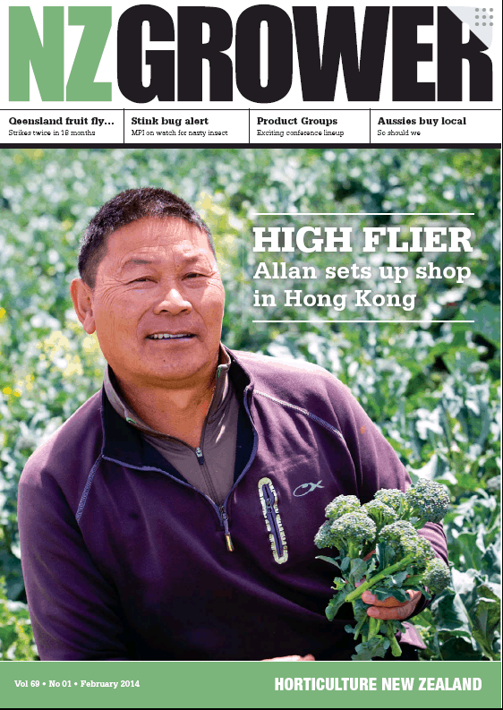 NZ Grower Magazine 2014 – February