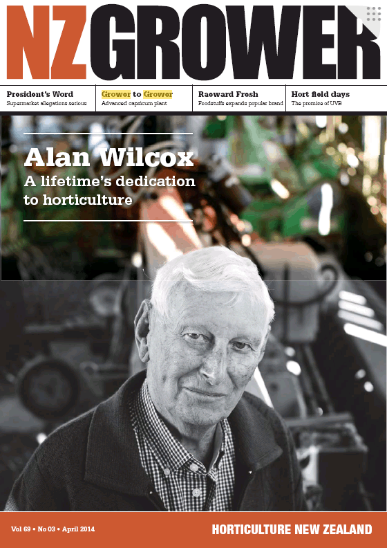 NZ Grower Magazine 2014 – April