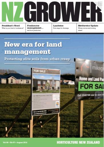 NZ Grower Magazine 2014 – August