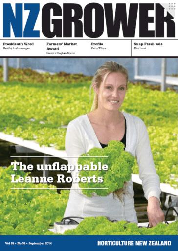 NZ Grower Magazine 2014 – September