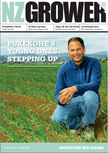 NZ Grower Magazine October 2014