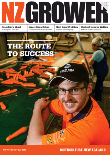NZ Grower Magazine May 2015
