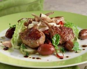 Lamb potato and feta salad