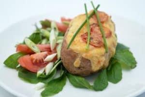 Grilled stuffed potato