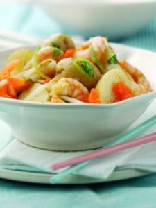 Thai potato and prawn salad