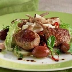 Warm salad of lamb, potatoes and feta