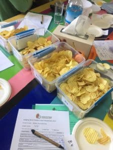 Potato crisp competition judging