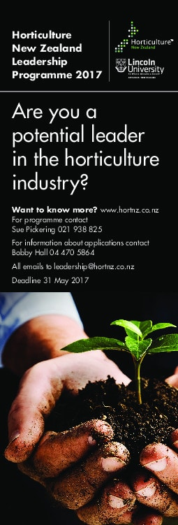 Horticulture NZ Leadership Programme 2017