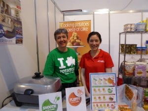Andrea Crawford and Sarah Noonan at the Food Show, Auckland